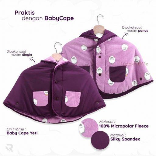 Cuddleme baby cape jaket bayi bolak balik